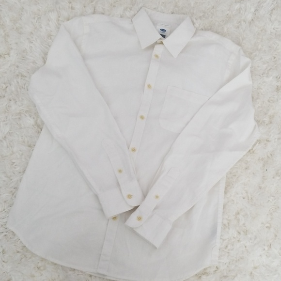 Old Navy Other - Cotton Linen Slim Fit Long Sleeve Shirt